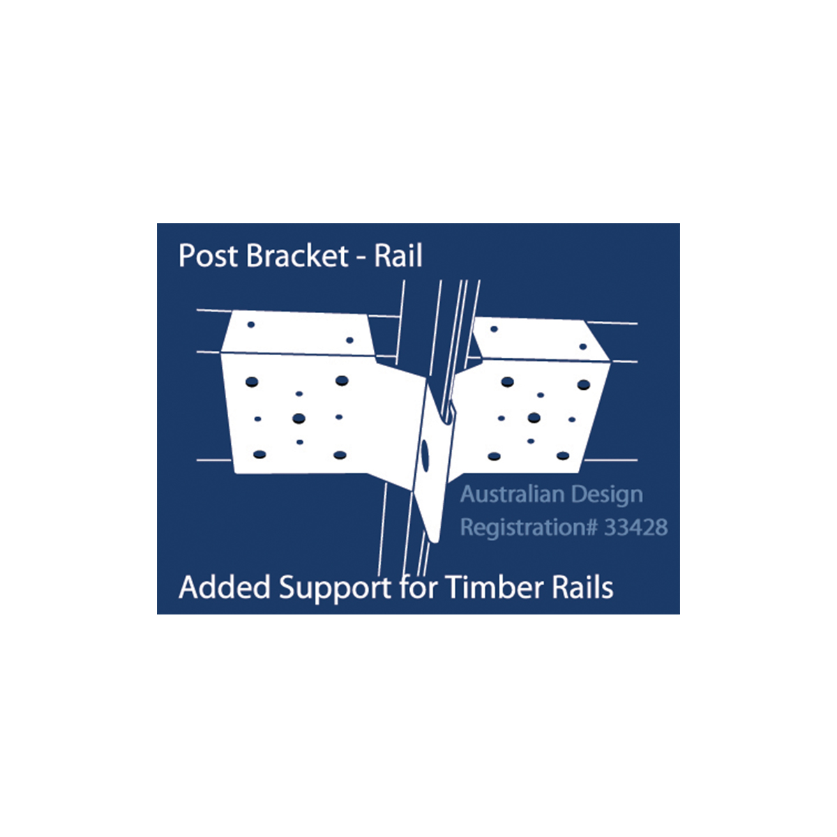 12216 post bracket rail illustration
