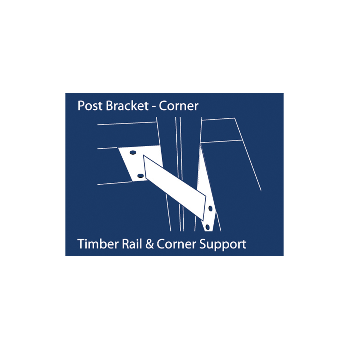 12217 post bracket corner illustration