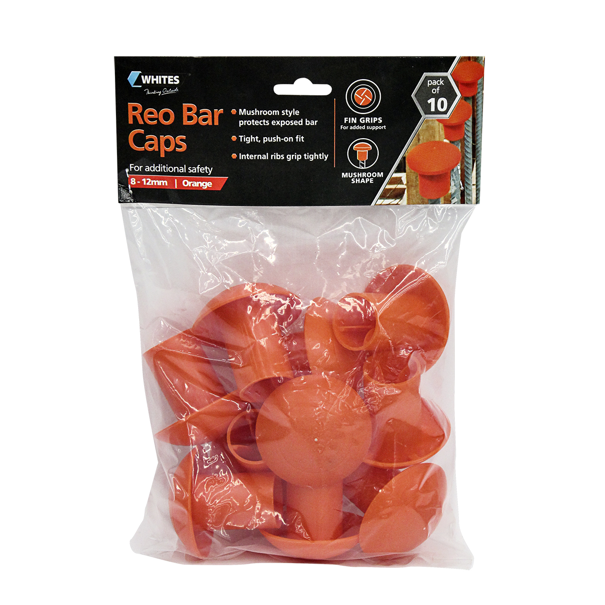 12336 reo bar caps orange 10pk