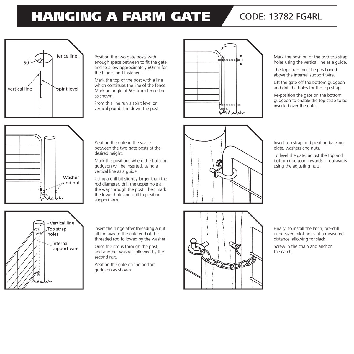 13782 FG4 Ring Latch installation instruction