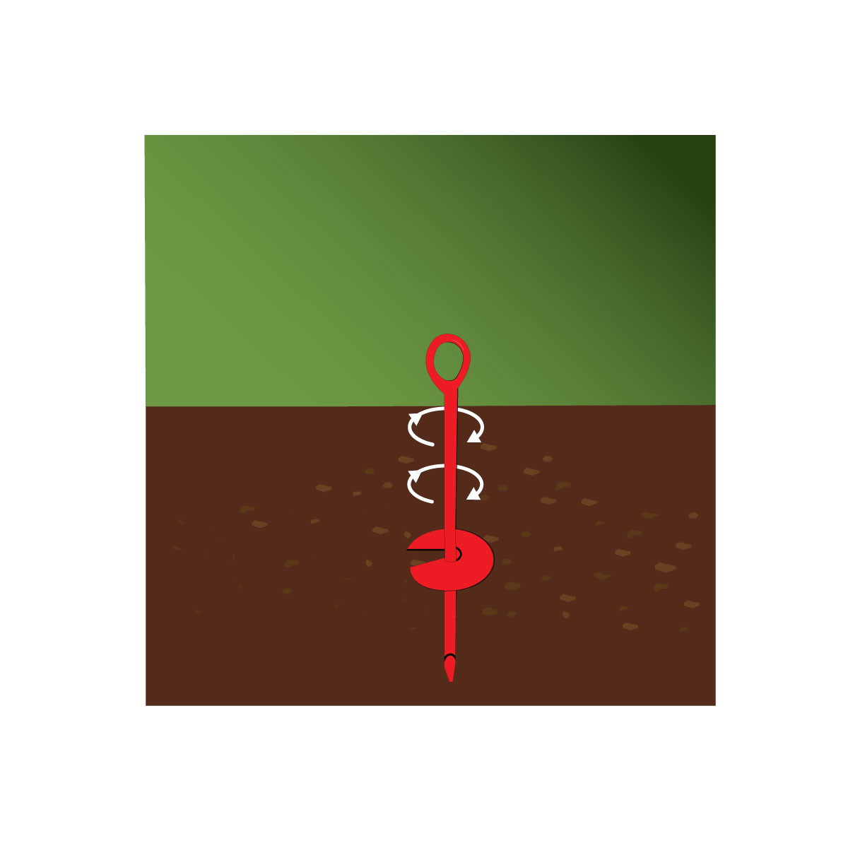 14218 hold downn auger ground anchor illustration