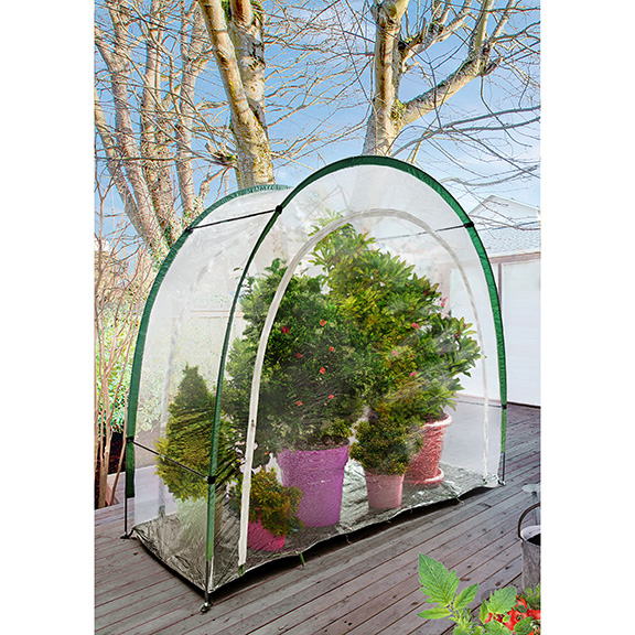 14372 portable balcony greenhouse insitu