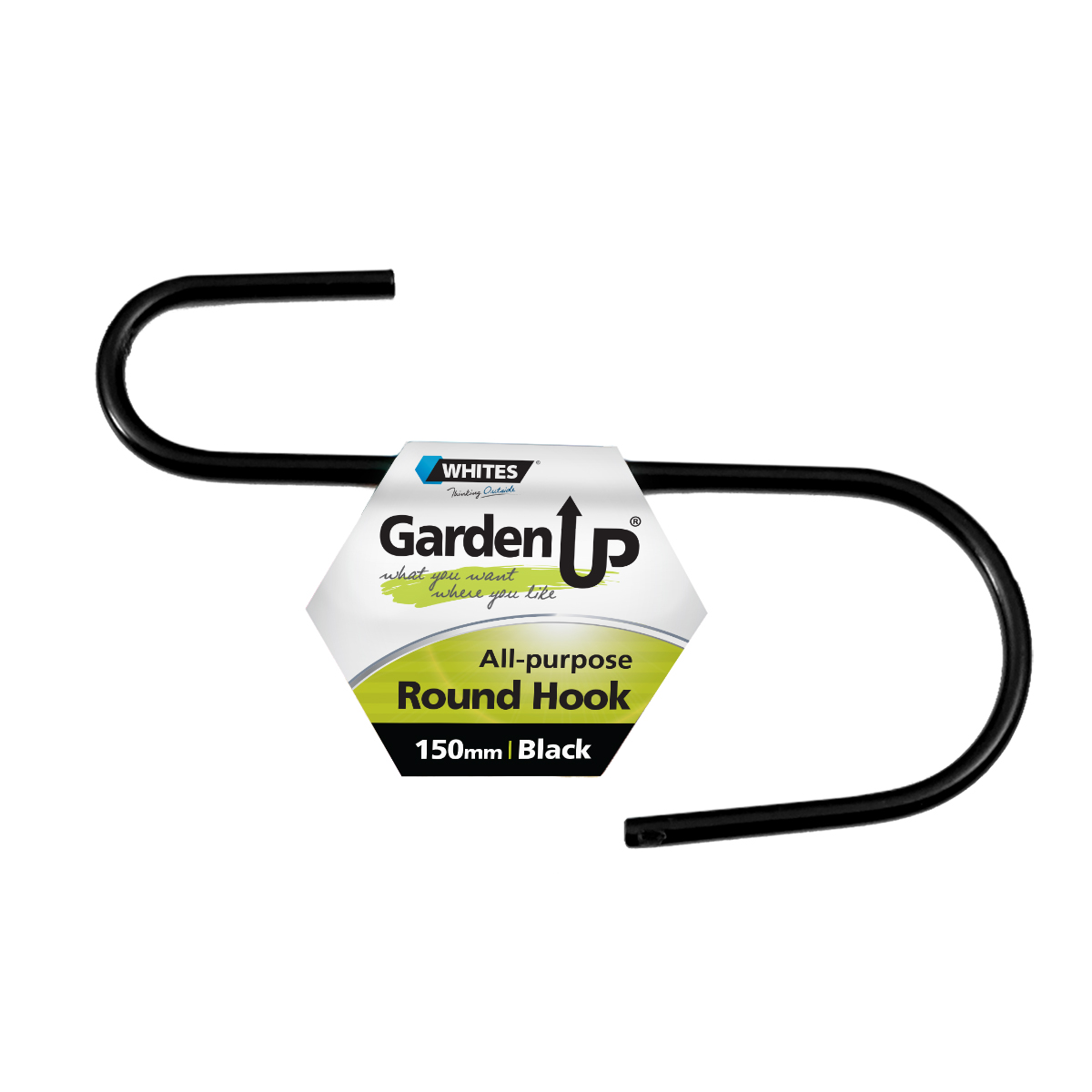18142 All Purpose Hook Round 150mm Black