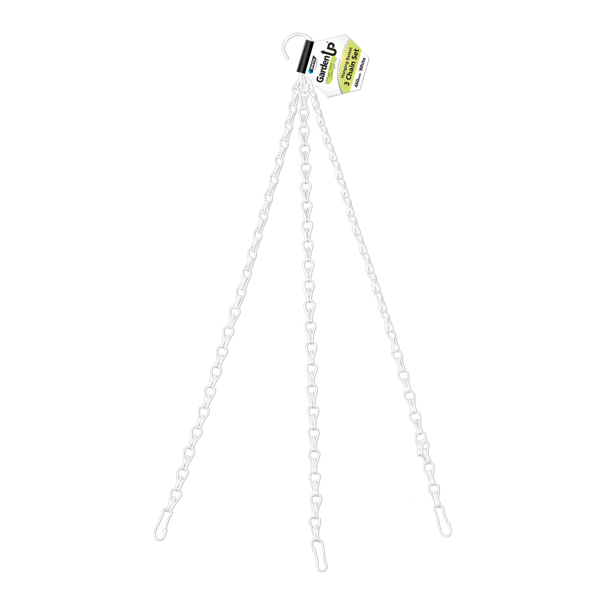 18189 Hanging Basket Chain Set 460mm White