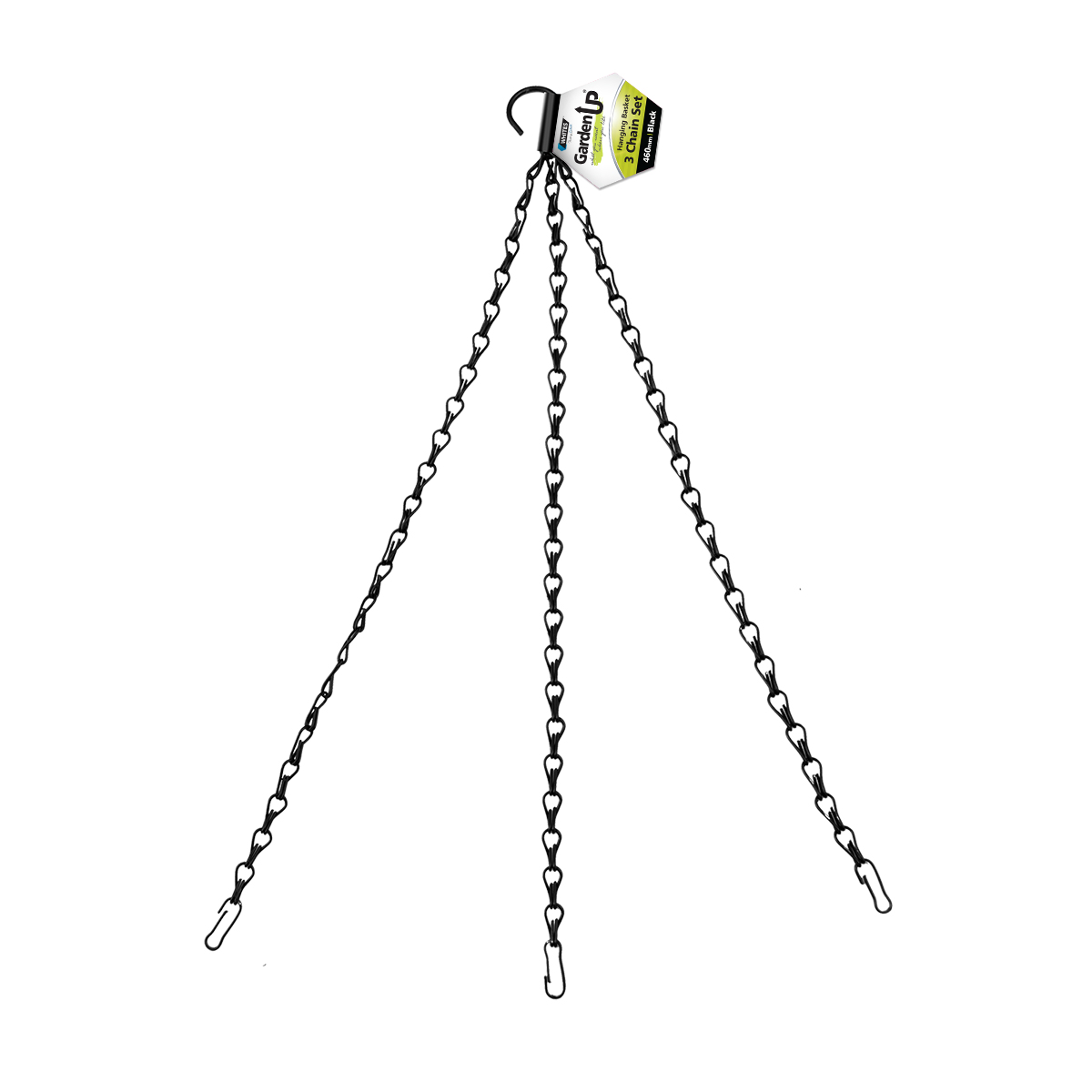 18192 Hanging Basket Chain Set 460mm Black