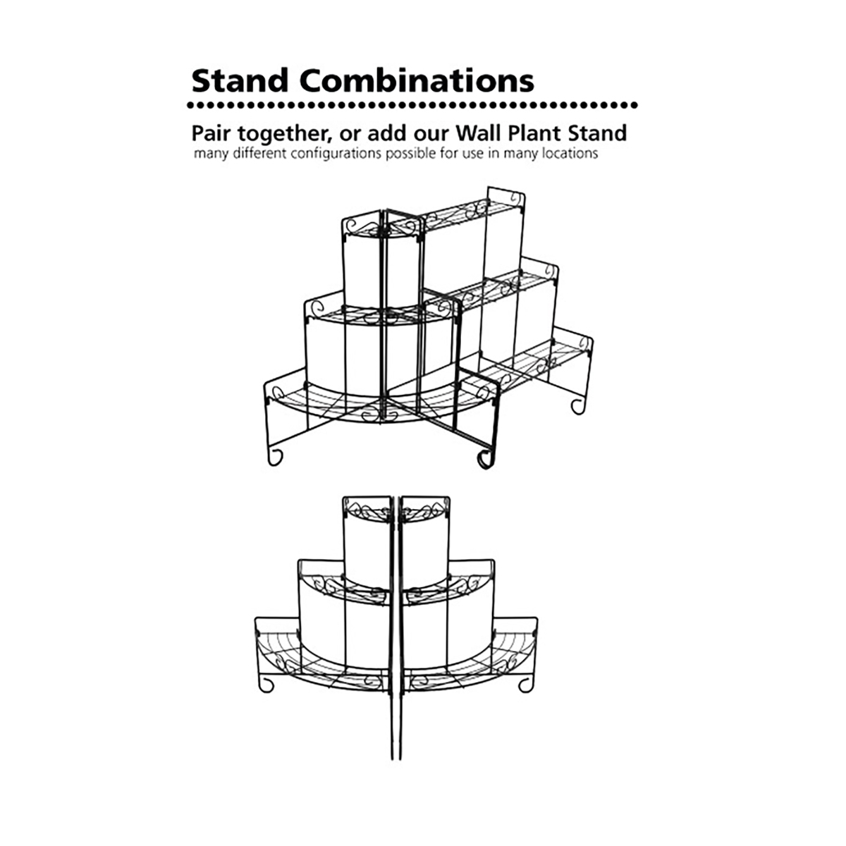 18196 Plant Stand Corner configurations