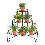 18196 Plant Stand Corner with flowers