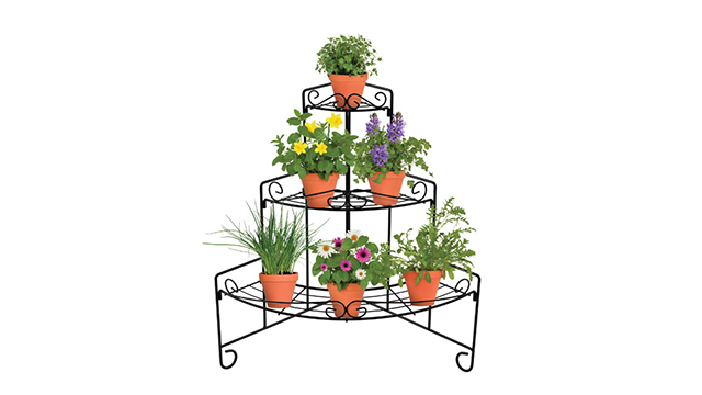 18196 corner plant stand with plants9 1