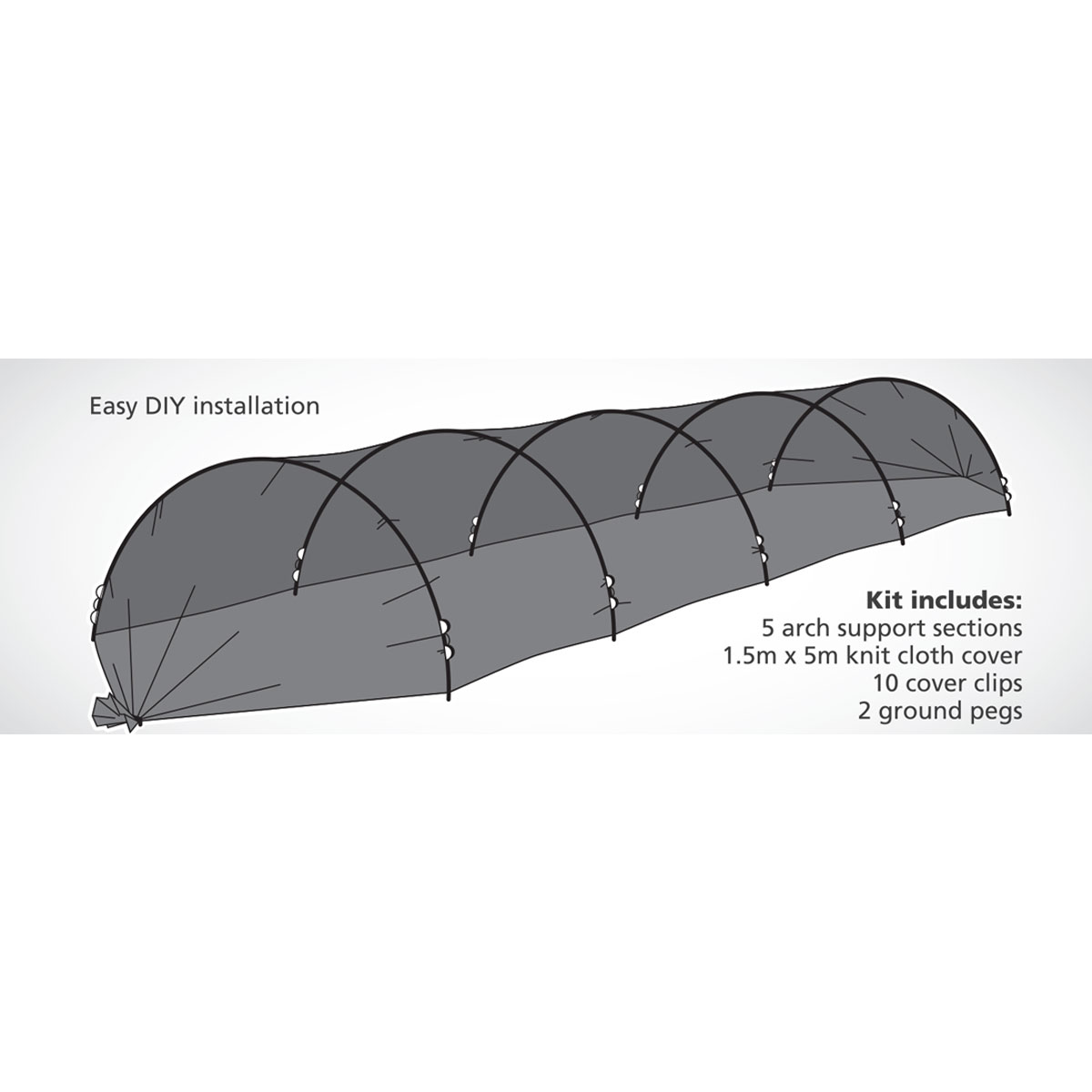 18340 Protective Shade Grow Tunnel installation info