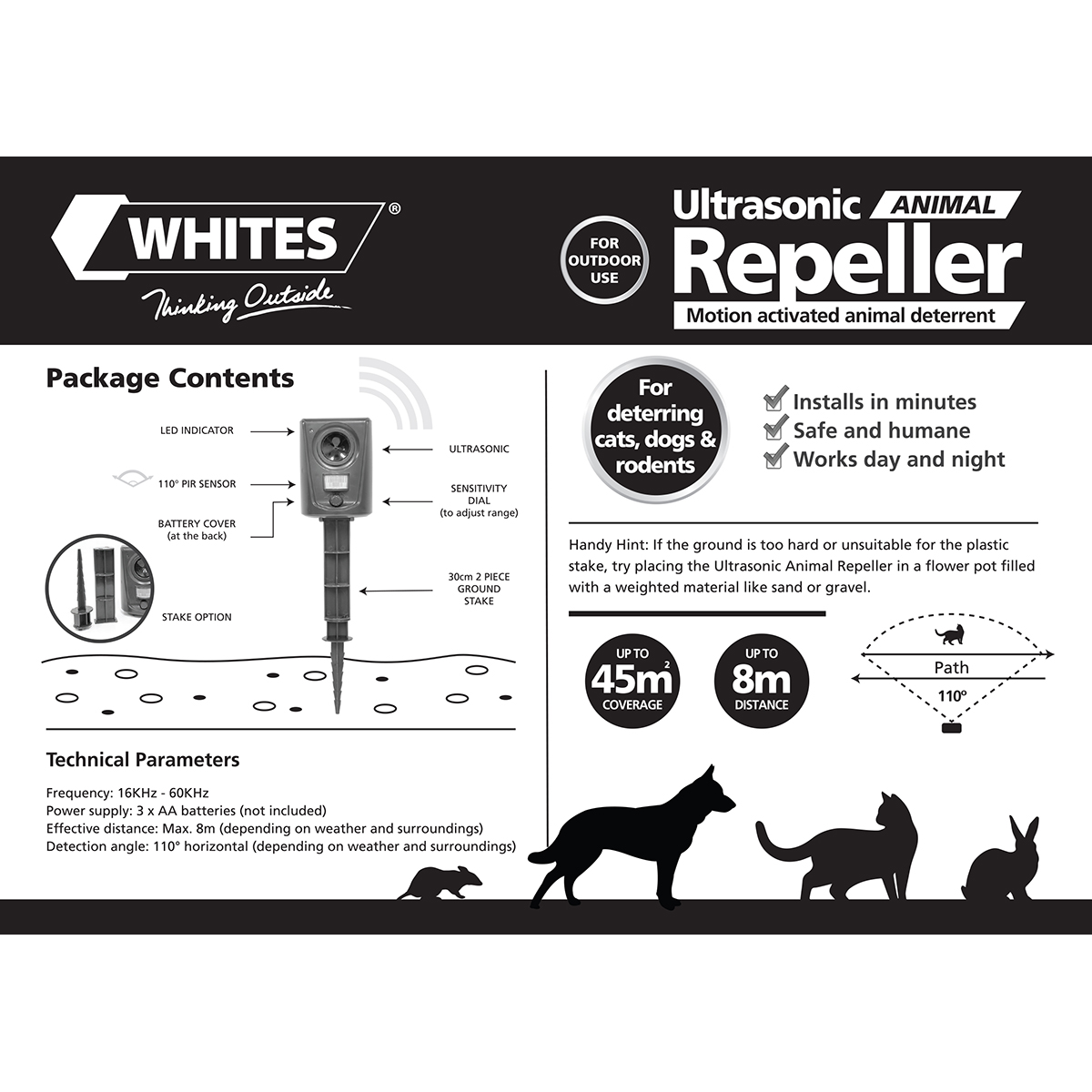 18393 Ultrasonic Animal Repeller