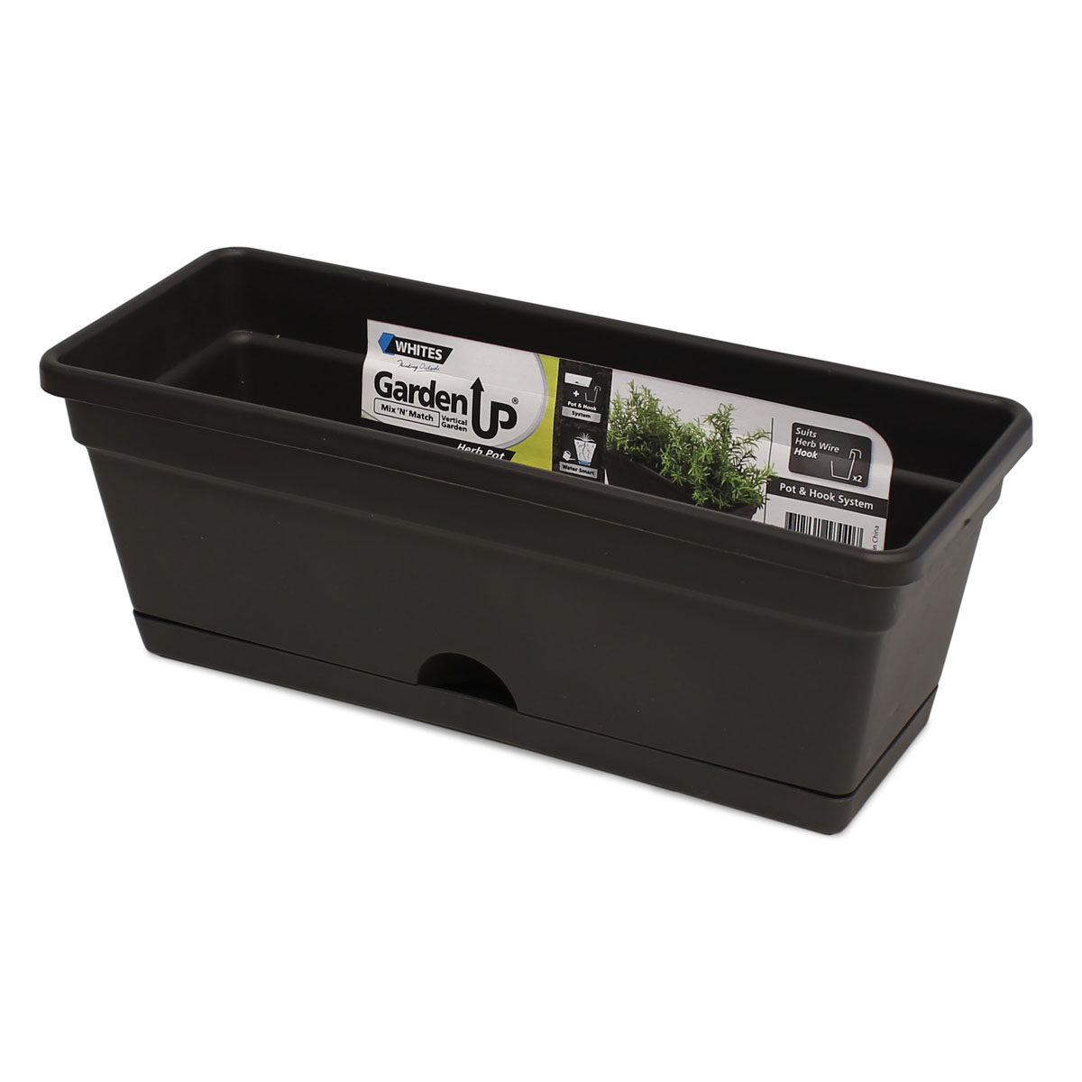 18440 Garden Up Herb Pot Charcoal