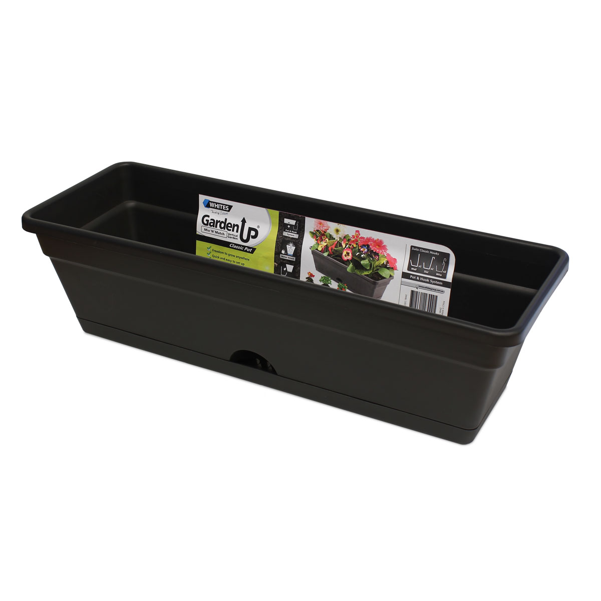 18442 Garden Up Classic Pot Charcoal
