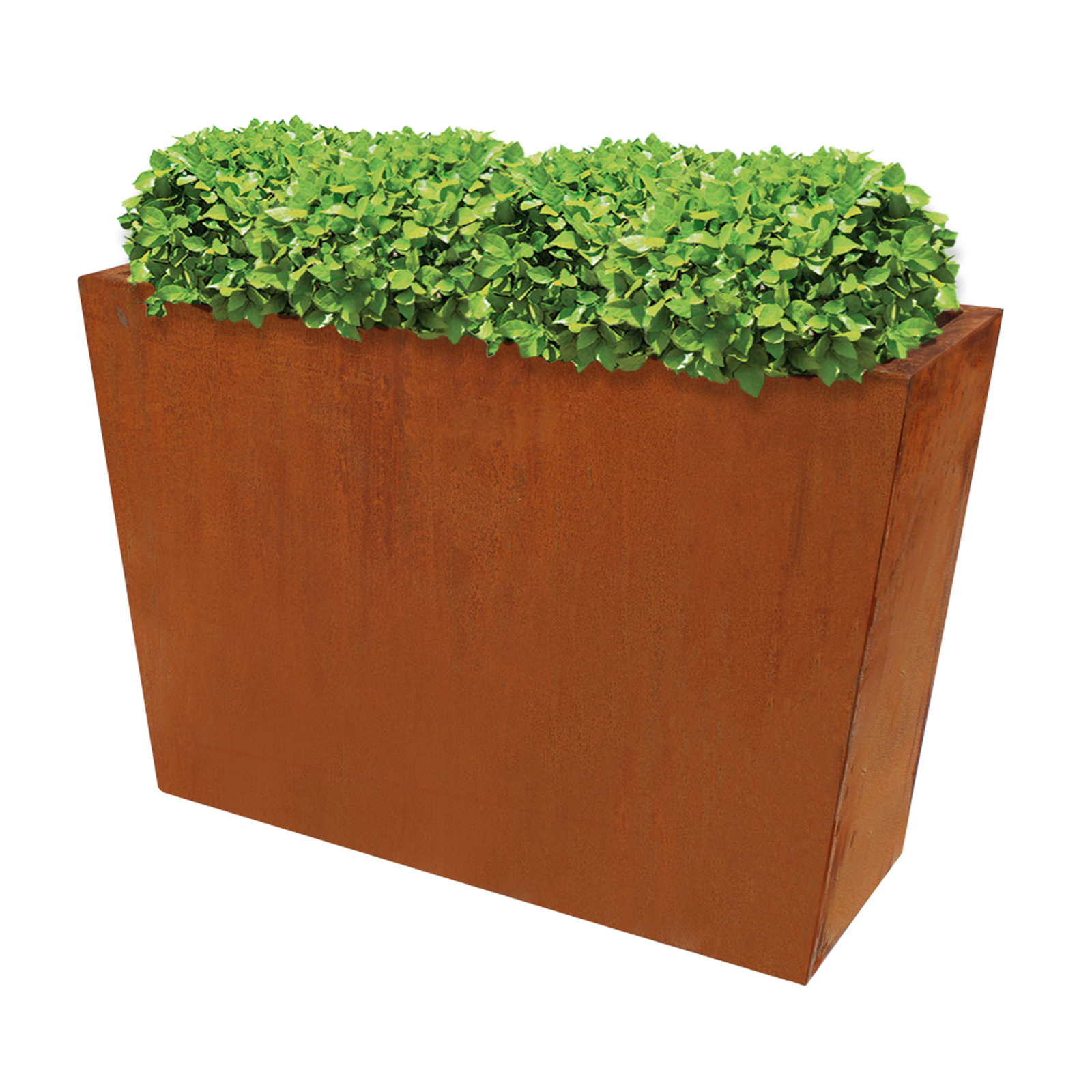 18488 cafe planter with plants 600x190x400