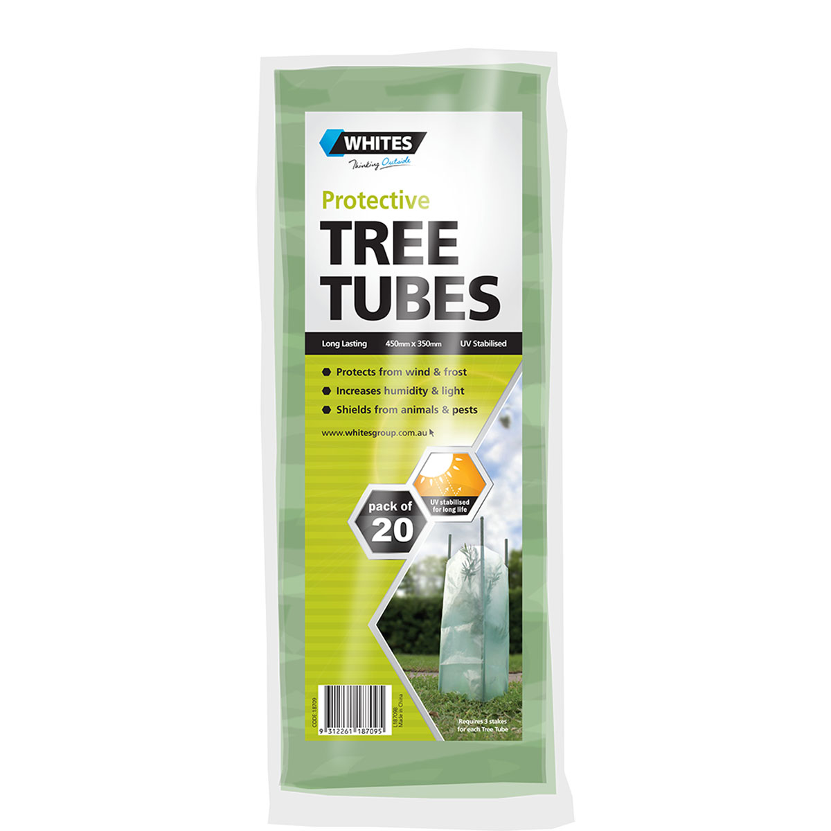 18709 Tree Tubes Clear Green