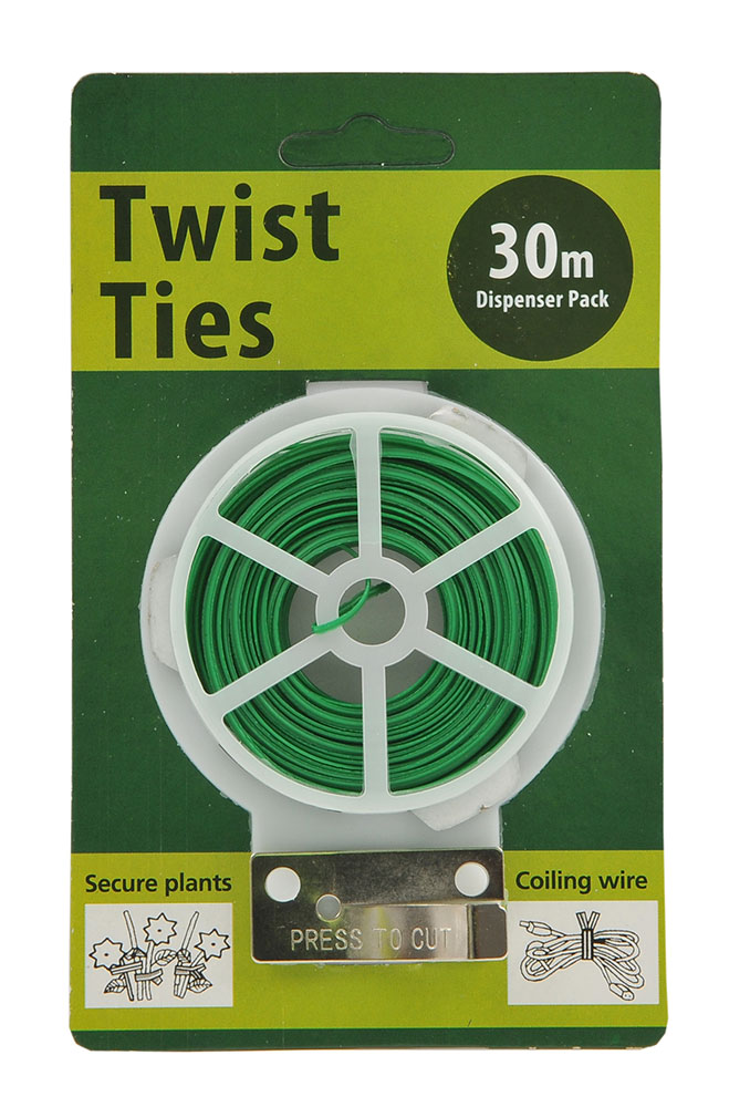 18720 twist tie 30m single pk green