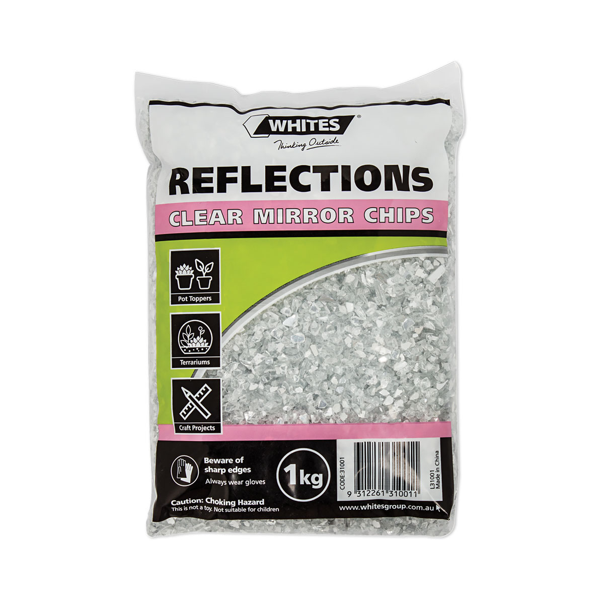 31001 Mirror Chips - clear