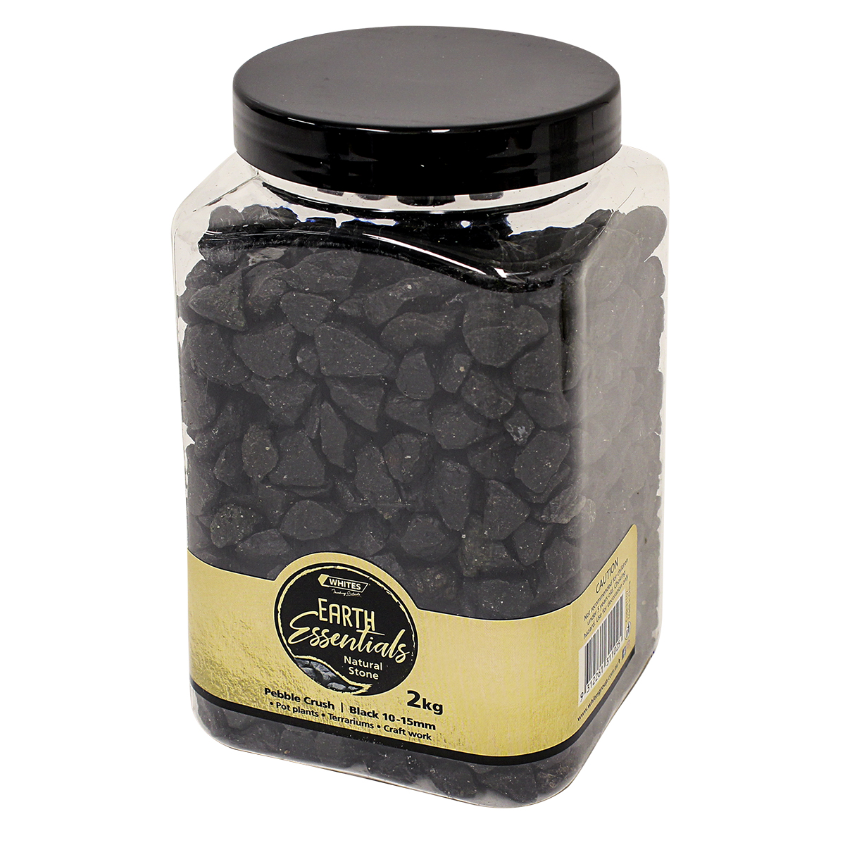 31102 - Pebble Crush Black Rock Jar 2kg