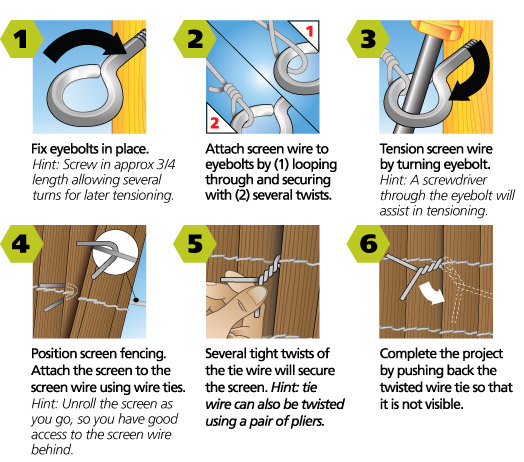 50301 fence screening kit instructions