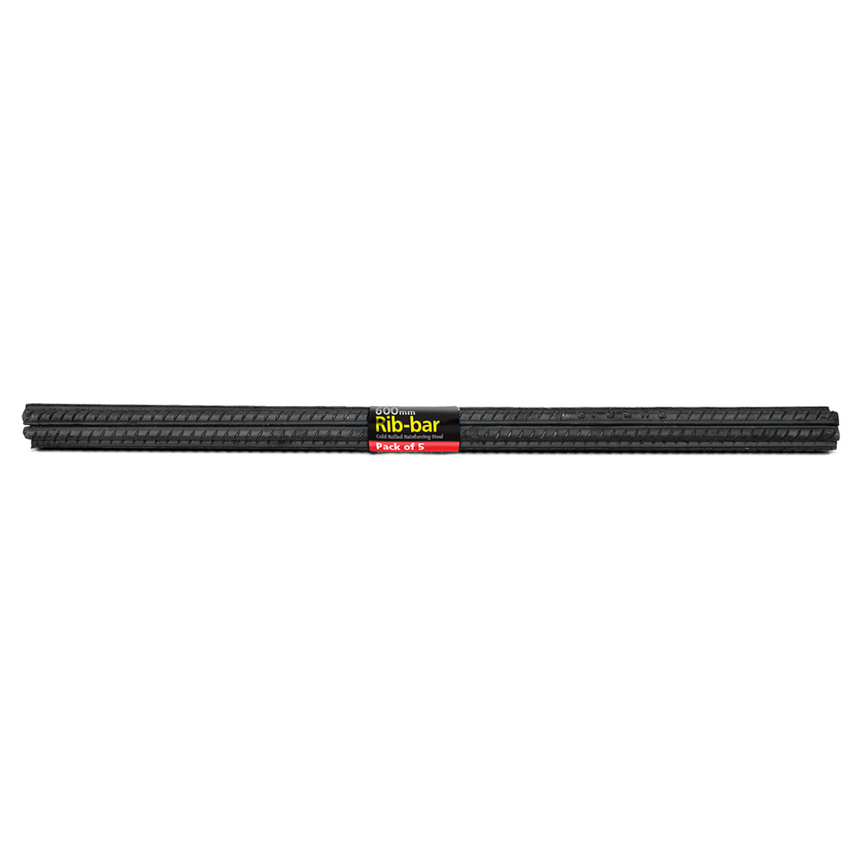 71661 rib bar 12mm x 600mm 5 pack