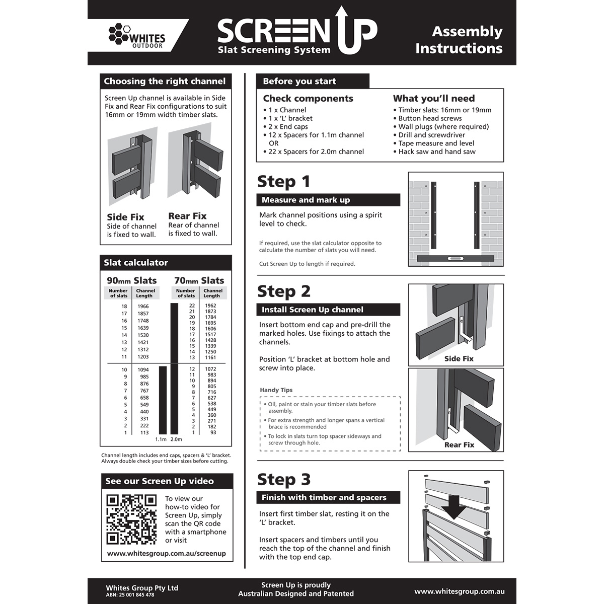Screen Up wall mount instructions