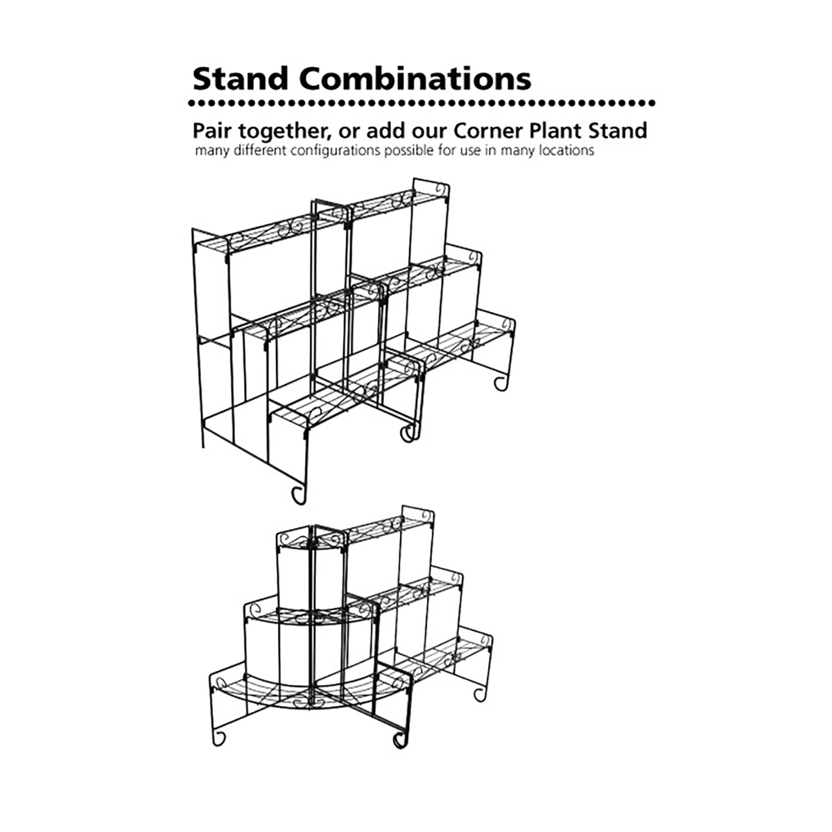 18197 Plant Stand Wall configurations
